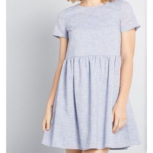 EUC blue babydoll dress Modcloth